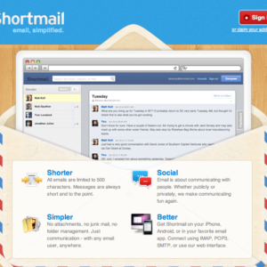 Shortmail Welcome Screen