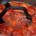 strawberry jam in a pan
