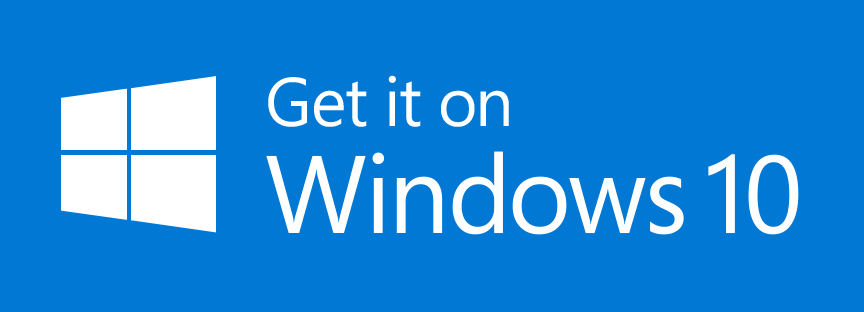 Get It On Windows 10 Badge