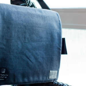"HEX Recon 15"" Charcoal Messenger Bag for iPad on a Bike"