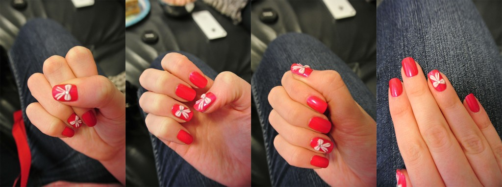 Nails Inc. Special Manicure With Nail Art Bows Featuring Swarovski Elements