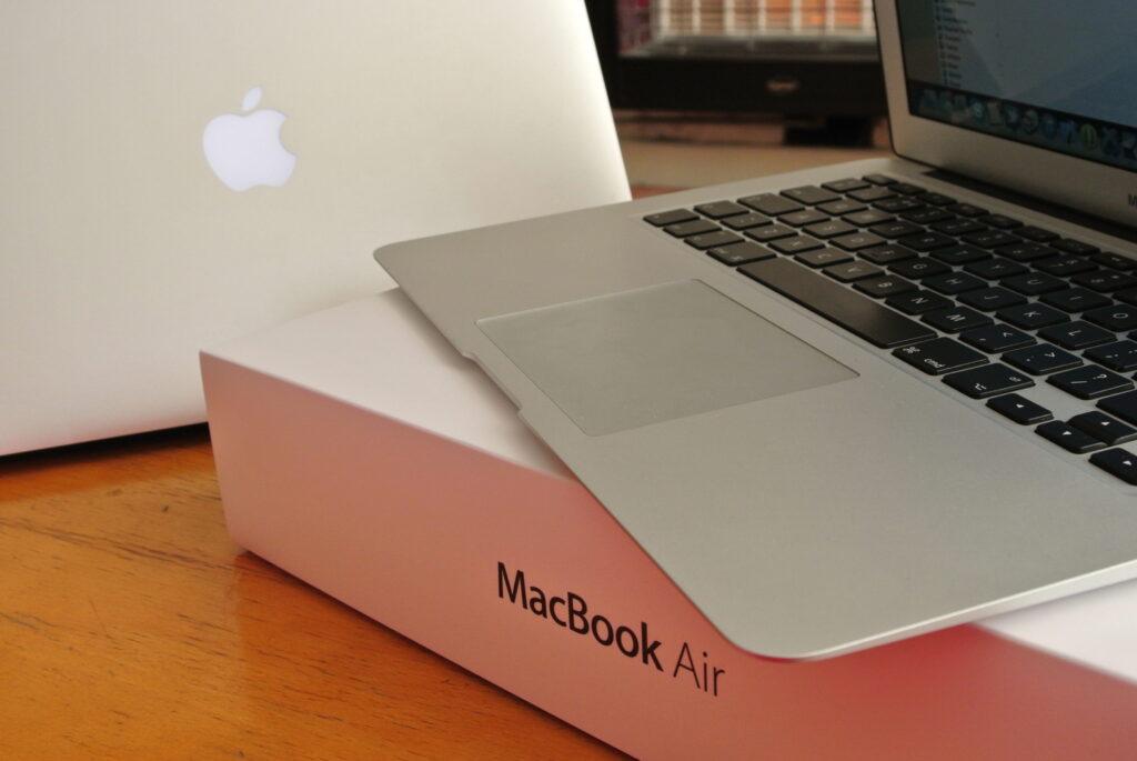 "Mid 2012 MacBook Air 13"" i7 2.0GHz & 8GB of RAM in front of Helen's MacBook Air"