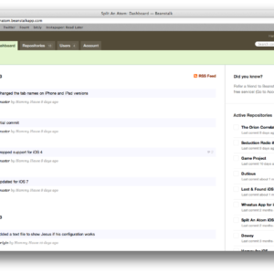 Beanstalk Dashboard of the Web Interface