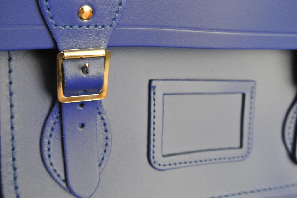 "Buckle of The Cambridge Satchel Company 15"" Sapphire Batchel"