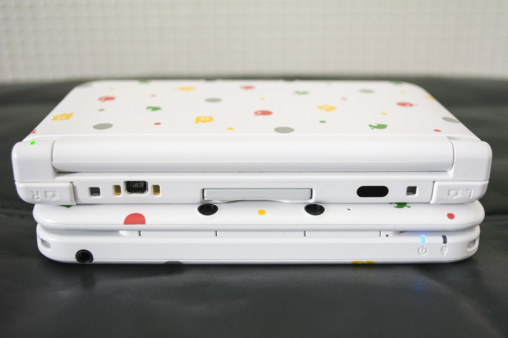 Animal Crossing Nintendo 3DS XL On Top Of Each Other