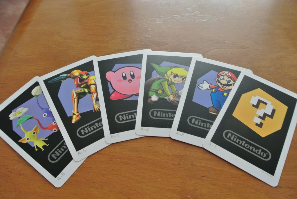 Nintendo 3DS XL AR Cards: Pikmin, Metroid, Kirby, Zelda, Mario, Question Mark Box