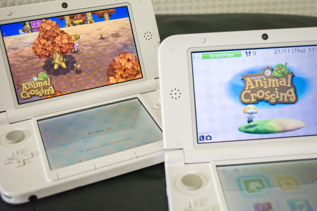 Nintendo 3DS XL Animal Crossing Title Screen