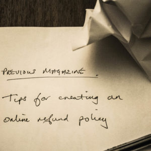Tips For Creating An Online Refund Policy