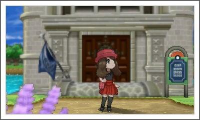 Helen Outside Battle Chateau At Photo Spot in Pokémon X