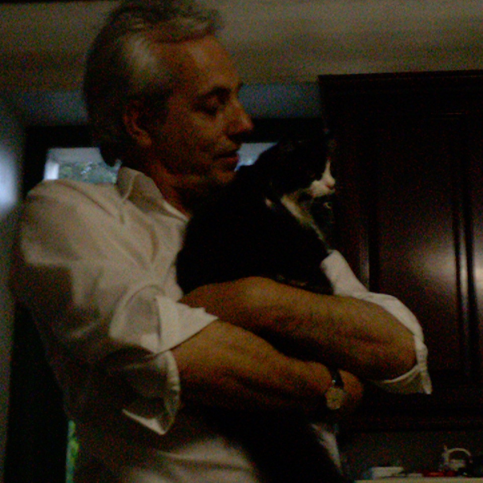 Stuart Routledge (Timehammer) With Susie-Boo Cat