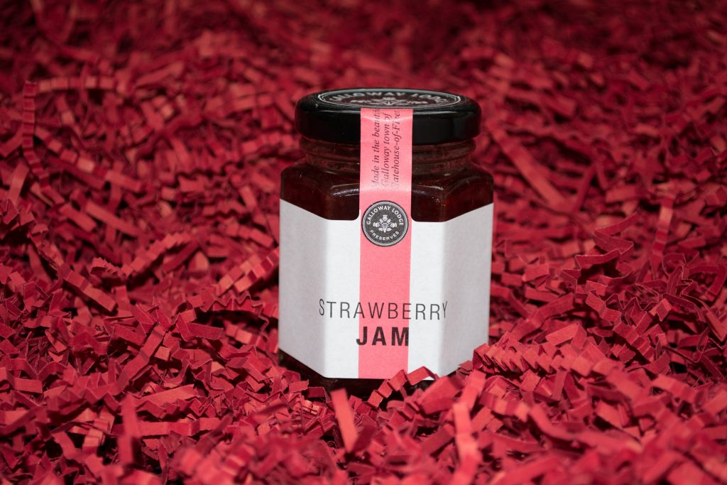 Jar of Galloway Lodge Preserves Strawberry Jam
