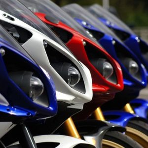 Motorbikes in a Row
