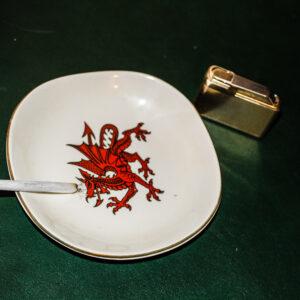 Rollie Cigarette, Welsh Red Dragon Ash Tray, Lighter
