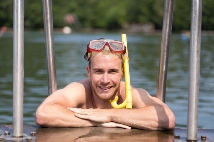 Man in Snorkel Stock Image