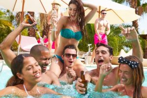 Pool Party Stock Image