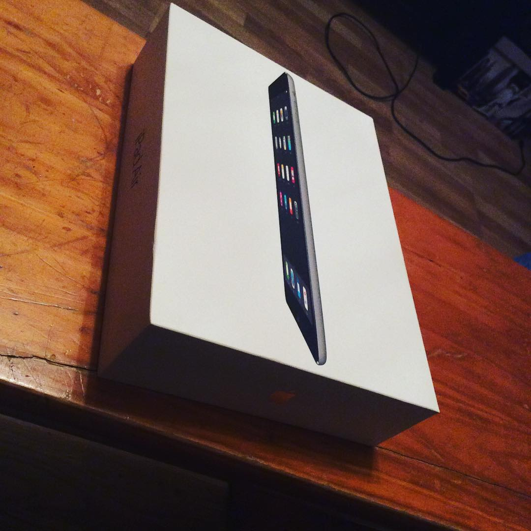 iPad Air Box On Table