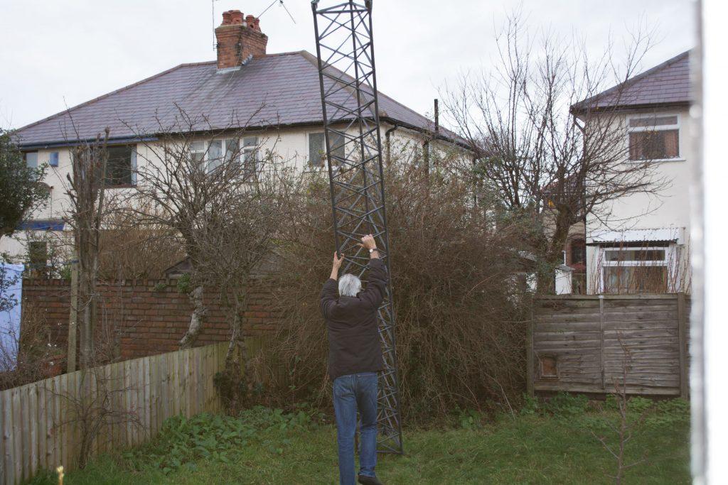 Stuart Routledge Erecting Radio Mast