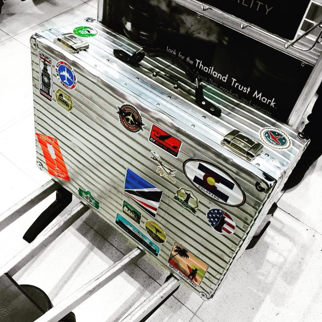 Rimowa Luggage in Airport