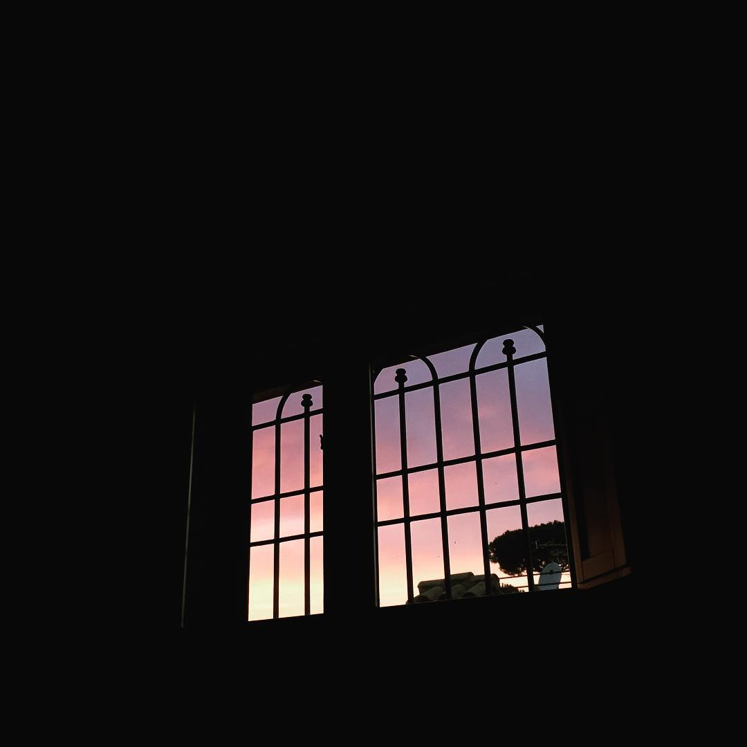 Sunrise Through Window from Bed