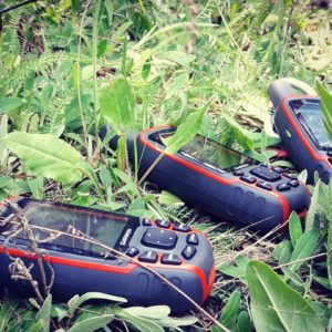 Garmin GPS in Grass