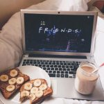 Laptop in Bed at Breakfast