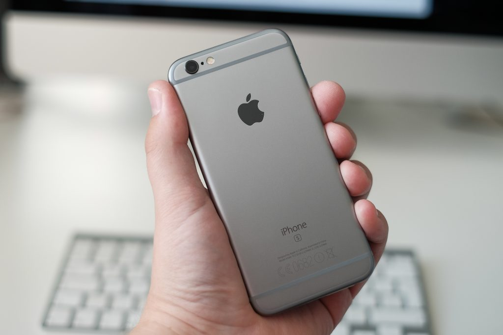 Back of Apple iPhone 6s in Hand