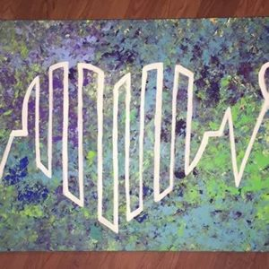Heart Sinewave Painting by Kimberly Rayleen