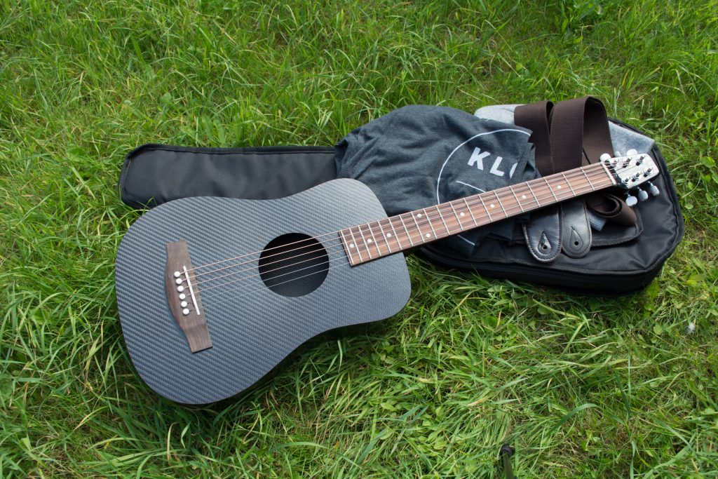 KLŌS 2.0 Carbon Fiber Travel Guitar with Gig Bag and Accessories