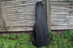 KLŌS 2.0 Carbon Fiber Travel Guitar Rain Cover on Gig Bag