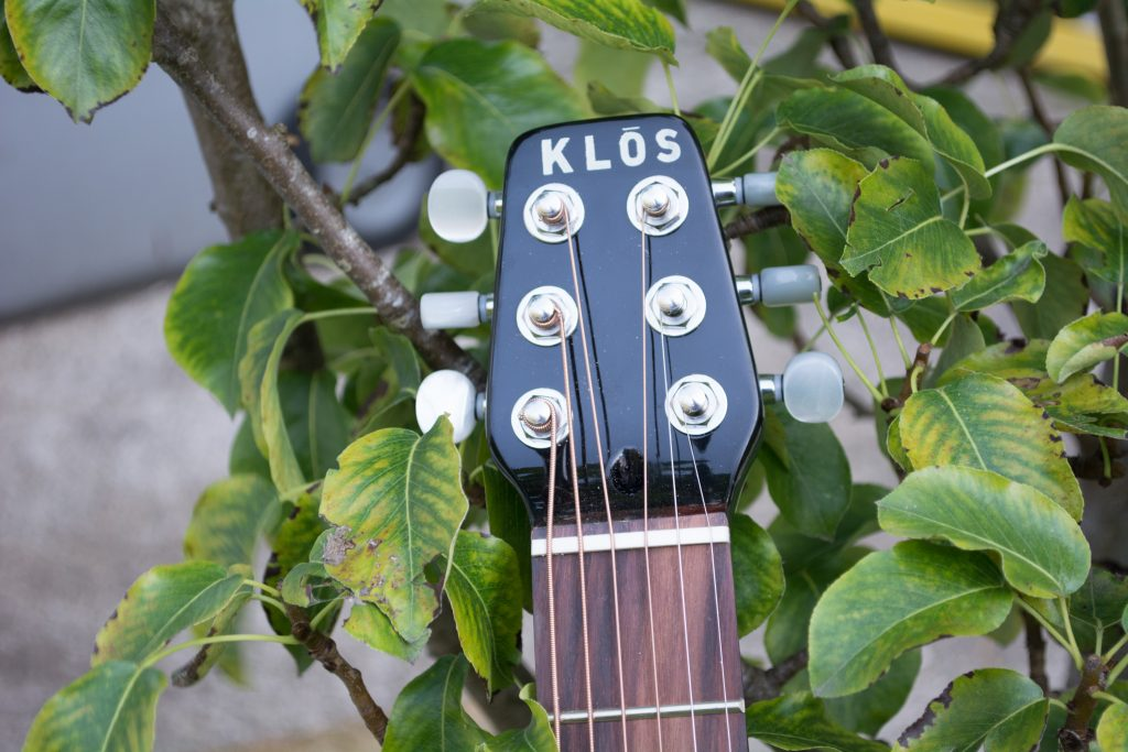 KLŌS 2.0 Carbon Fiber Travel Guitar Headstock