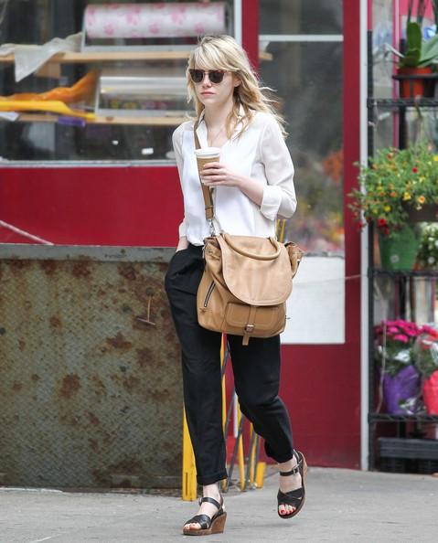 Emma Stone Oversized Satchel
