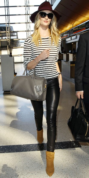Rosie Huntingdon-Whitely Striped T-Shirt