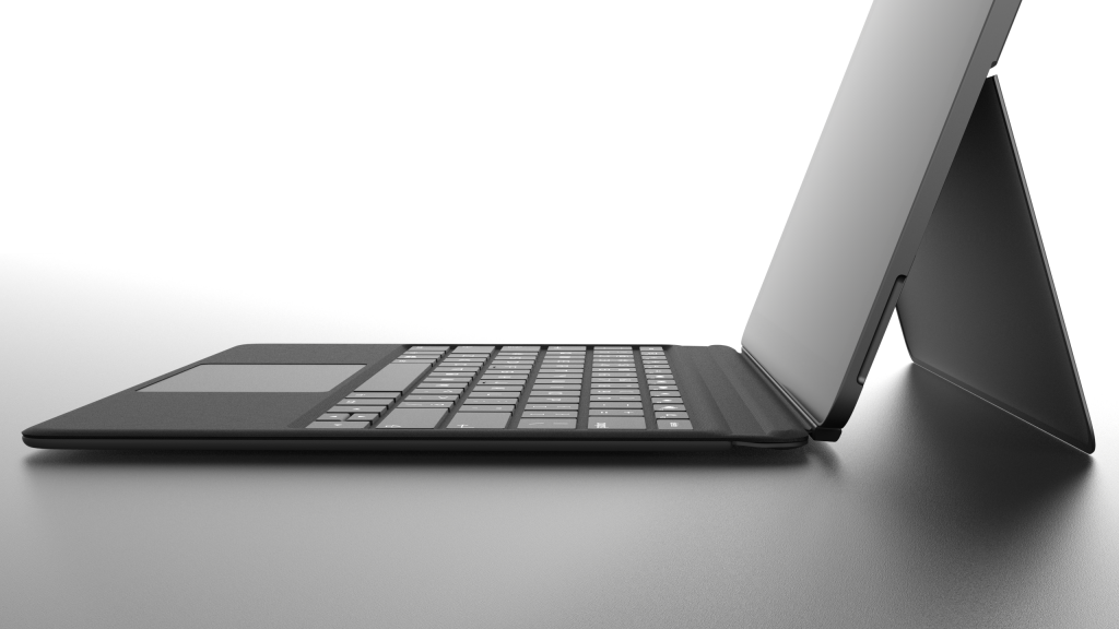 Eve V Side-Profile with Keyboard Case and Kickstand