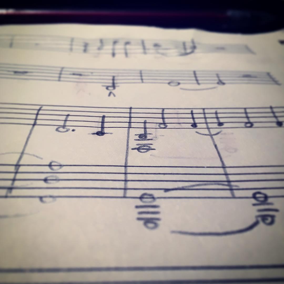 Handwritten Musical Notation