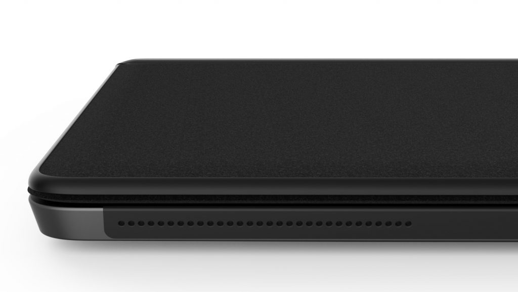 Back of the Eve V keyboard cover
