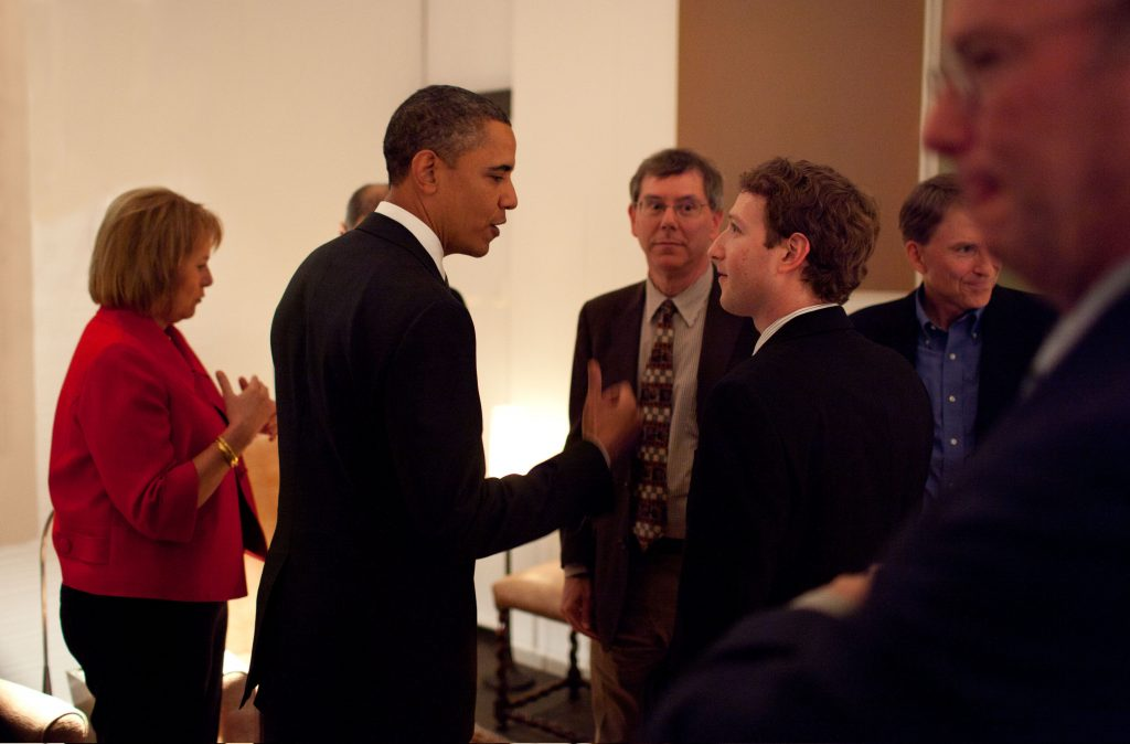 Mark Zuckerberg Meets President Barack Obama