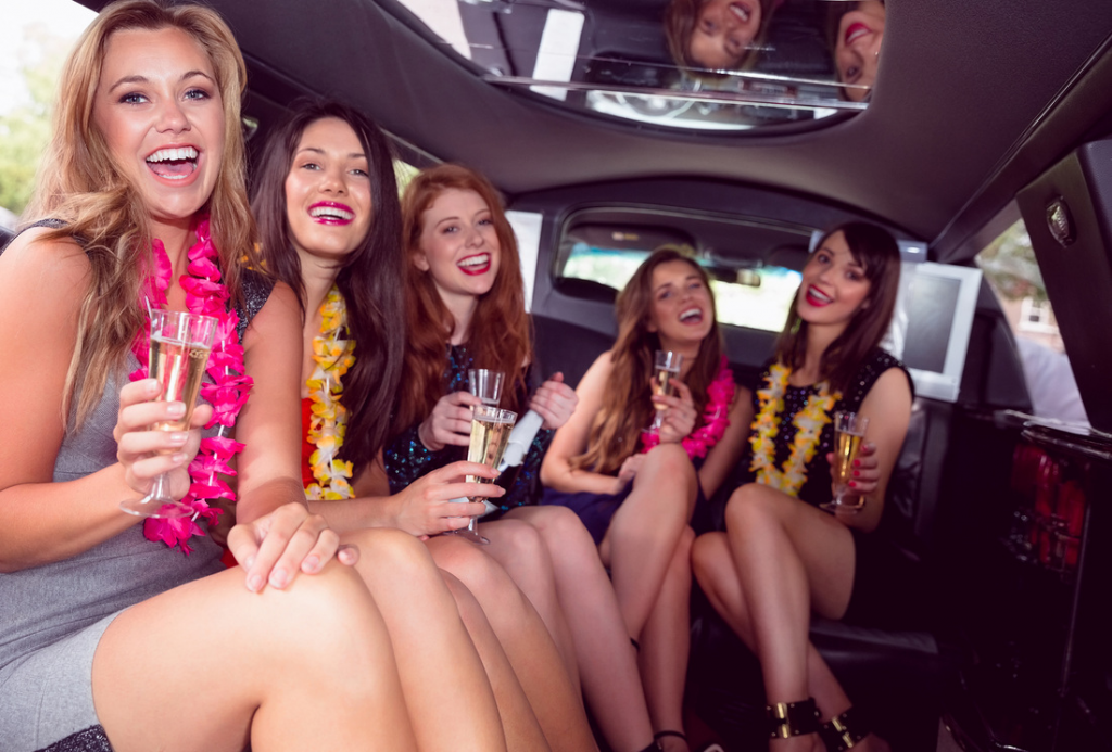 Bachelorettes in Limo