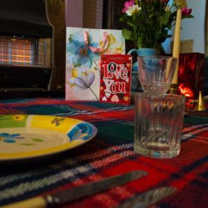 Valentine's Day Carpet Picnic in Living Room