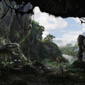 Godzilla vs King King on Skull Island