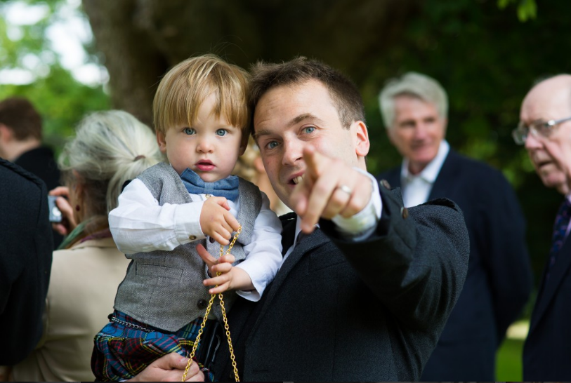 Photo At Wedding With Toddler