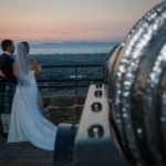 Scottish Wedding Photo of Bride and Groom with Kilt
