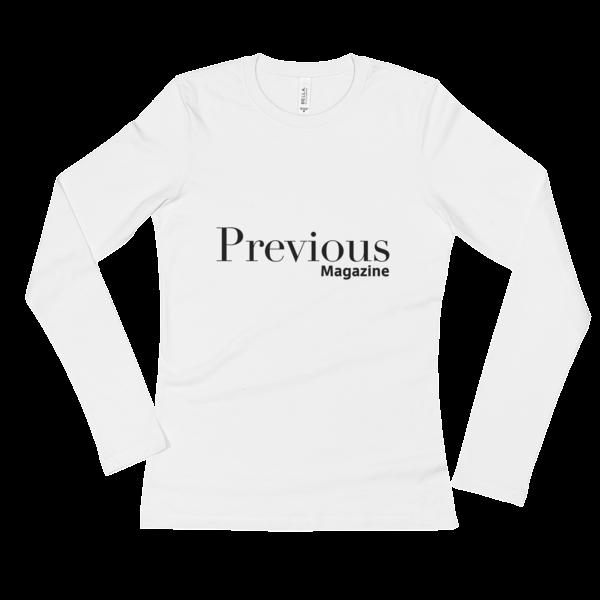 Ladies' Long Sleeve T-Shirt with Black Previous Magazine Logo 1