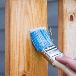 Preparing wood to be painted