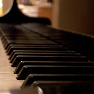 Piano keybed stock image