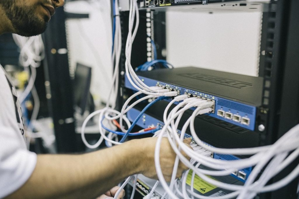 Network switches 19 inch rack