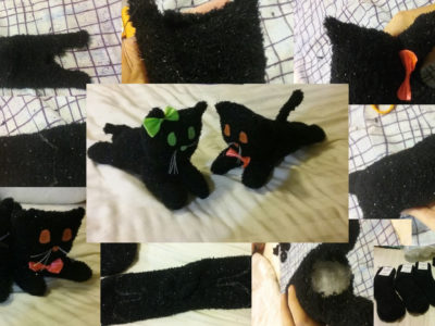 How to Make a Halloween Cat Plush Toy