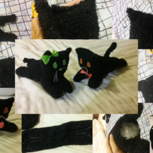 How to Make a Halloween Cat Plush Toy 1