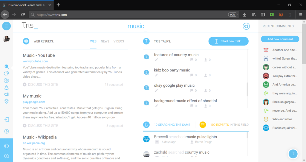 Tris Search Results for 'music'