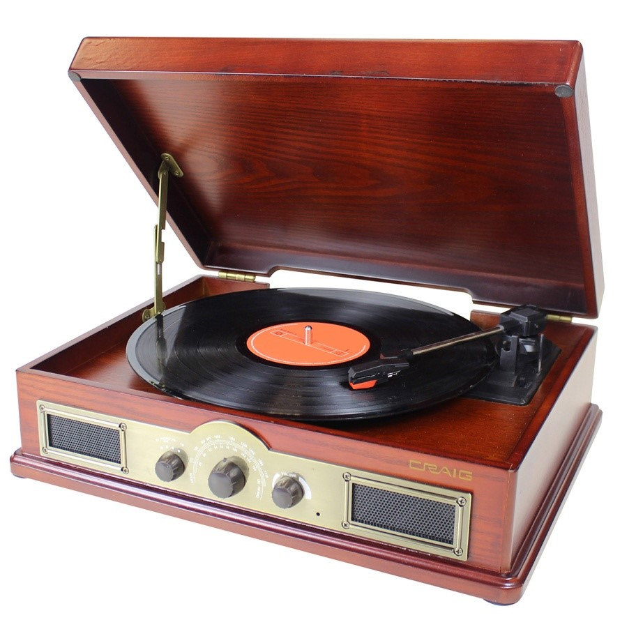 All-in-one vinyl turntable