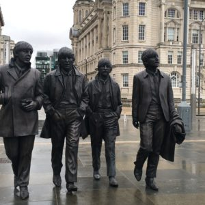 The Beatles statues in Liverpool